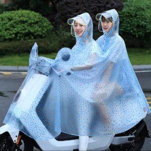 Áo mưa phản quang 2 đầu Dua-orang-Jas-Hujan-Motor-Jas-Hujan-Sepeda-Man-Wanita-Dewasa-Hooded-Jas-Hujan-Ukuran-Besar-300x300